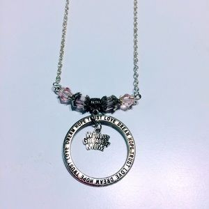 Worlds greatest mom pink crystal necklace